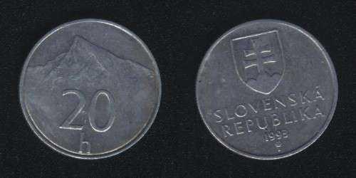 20 гелеров 1993 Словакия