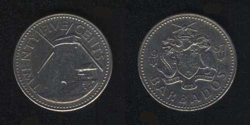 25 центов 1987 Барбадос
