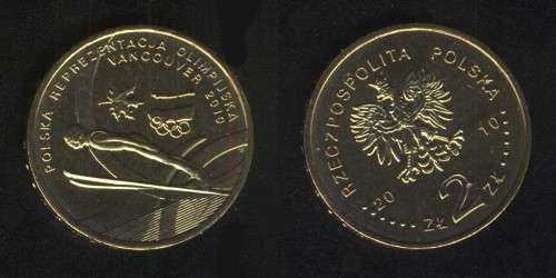 2 злотых 2010 (Олимпиада в Ванкувере) Польша