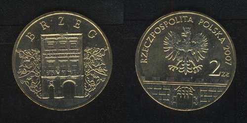 2 злотых 2007 (Бжег) Польша