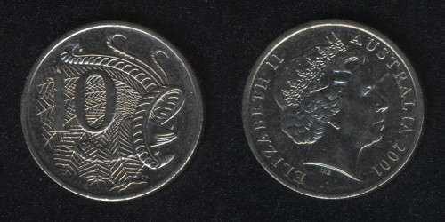 10 центов 2001 Австралия