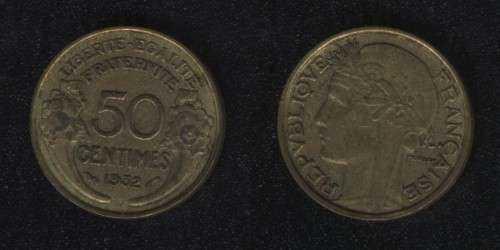 50 сентим 1932 Франция
