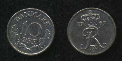 10 эре 1967 Дания