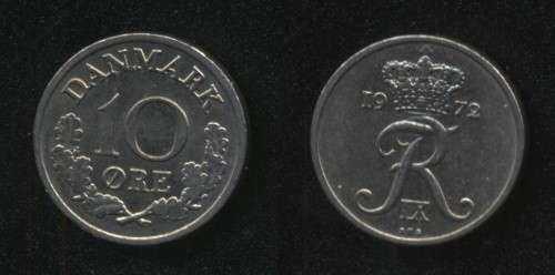 10 эре 1972 Дания
