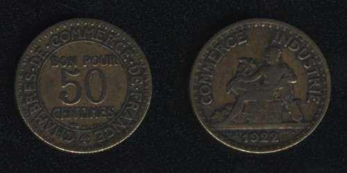 50 сентим 1922 Франция