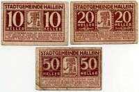 Нотгельд Австрия набор 11 (б)