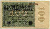 100000000 марок 1923 (ВЗ розетки 421) Германия (б)