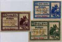 Нотгельд Австрия набор111 3 выпуск (б)