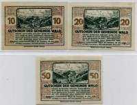 Нотгельд Австрия набор172 (б)