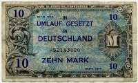 10 марок 1944 (820) оккупация США Германия (б)