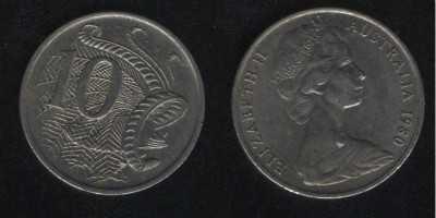 10 центов 1980 Австралия