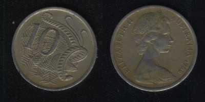 10 центов 1966 Австралия