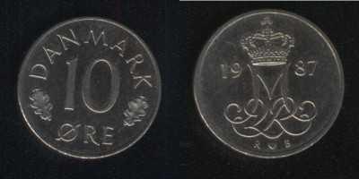 10 эре 1987 Дания