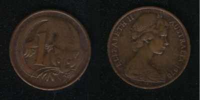 1 цент 1970 Австралия