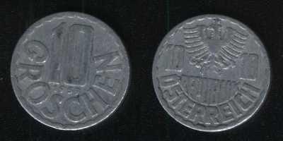 10 грошей 1959 Австрия