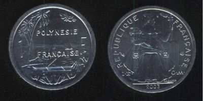 1 франк 2003 Французская Полинезия