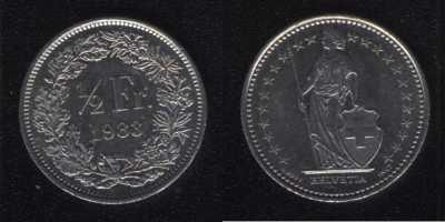 1/2 франка 1983 Швейцария