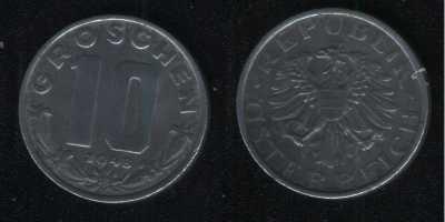 10 грошей 1948 Австрия