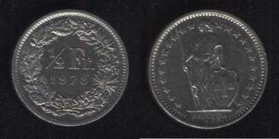 1/2 франка 1978 Швейцария
