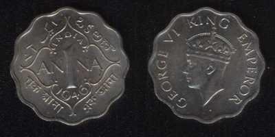 1 анна 1946 Британская Индия