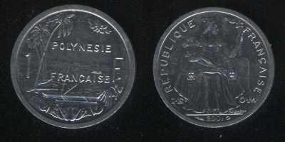 1 франк 2001 Французская Полинезия
