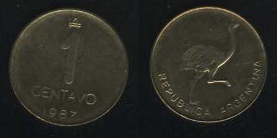 1 сентаво 1987 Аргентина