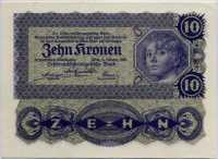 10 крон 1922 Австрия (б)
