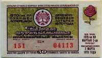 Лотерейный билет СНГ Азербайджанская ССР 1970 Праздничный выпуск (б)