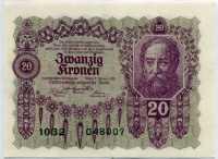 20 крон 1922 Австрия (б)