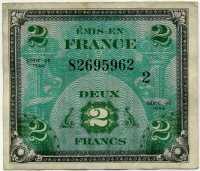 Оккупация союзников 2 франка 1944 (962) Франция (б)