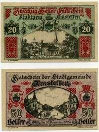 Нотгельд Австрия из набора 01 (б)