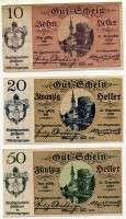 Нотгельд Австрия набор Нибелунги номинал слева верх (б)