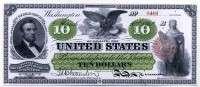 США 10 долларов 1862 (9461) копия (б)