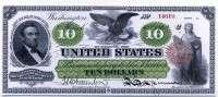 США 10 долларов 1862 (14619) копия (б)
