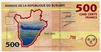 500 франков 2015 Бурунди (б)