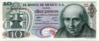 10 песо 1977 Мексика (б)