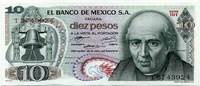 10 песо 1972 Мексика (б)