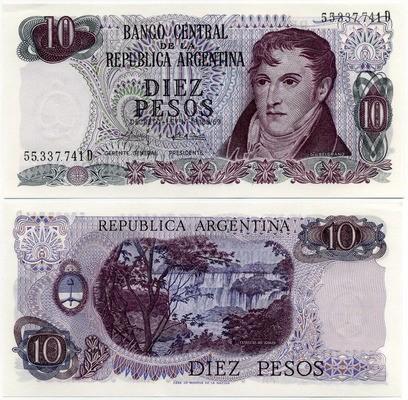 10 песо 1969 Аргентина (б)