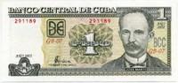 1 песо 2002 редкий год! Куба (б)