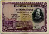 50 песет 1928 (233) Испания (б)