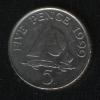 5 пенсов 1999 Гернси