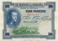 100 песет 1925 (307) Испания (б)