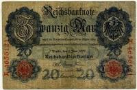 20 марок 1907 (121) Редкий год! Германия (б)