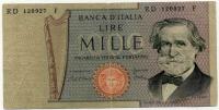 1000 лир 1969 (927) Италия (б)