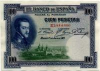 100 песет 1925 (666) Испания (б)
