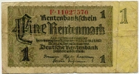 1 марка 1937 (570) № узкий Германия (б)