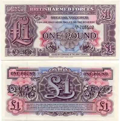 Военный ваучер 1 фунт 2 серия Великобритания (б)