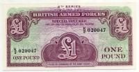 Военный ваучер 1 фунт 4 серия Великобритания (б)