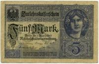 5 марок 1917 (536) фиолетовая Состояние! Германия (б)