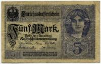 5 марок 1917 (908) фиолетовая Германия (б)